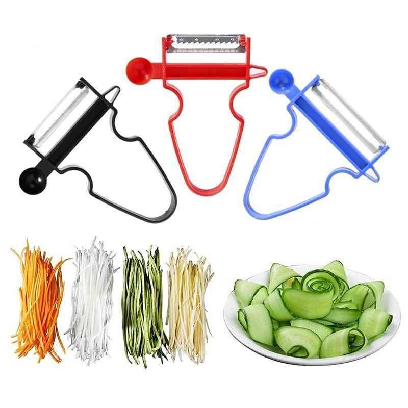 3pcs Stainless Steel Slicer - Shredder, Peeler, Julienne Blade Grater Kitchen Tool
