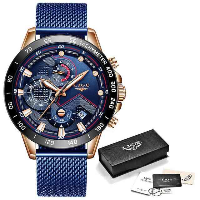 Luxury Wrist Watch, Quartz Clock - Waterproof Sport Chronograph For Mens