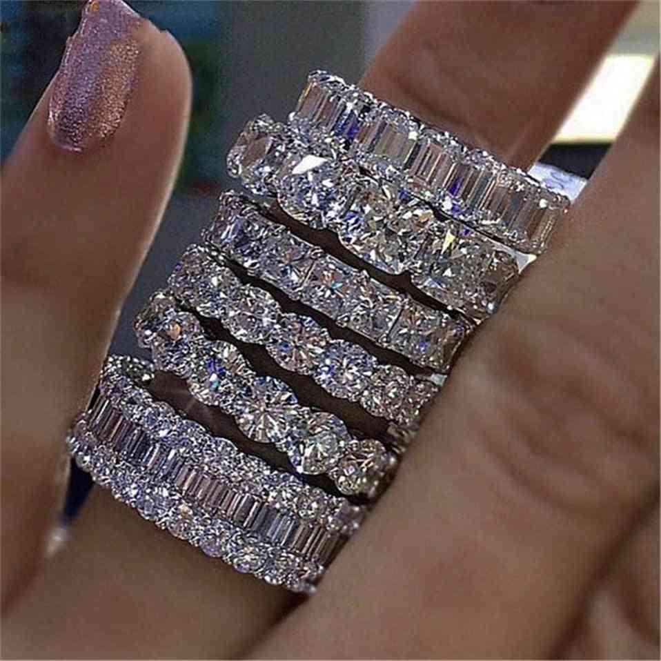 Handmade Engagement / Wedding Ring - 925 Sterling Silver Band For Women/men Finger
