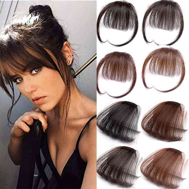 6inch Clip In Hair Bangs Hairpiece - Synthetic Fake Bangs Clip In Hair Extensions