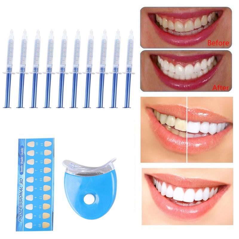10/6/4/3pc Set 44% Peroxide, Dental Bleaching System Oral Gel - Teeth Whitener Equipment Kit