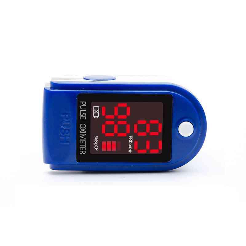 Led Screen Digital Finger Tip Pulse Oximeter, Spo2 Monitor, Ce&fda + Hanging Line