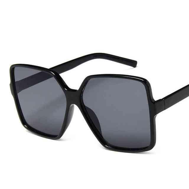 Oversize Designer Sunglasses For Women With Gradient, Uv400 Lenses
