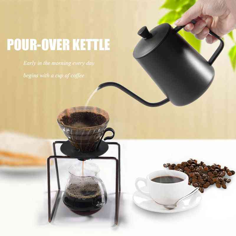Non-stick Coating Food Grade Stainless Steel Gooseneck Drip Kettle -  Coffee, Tea Pot