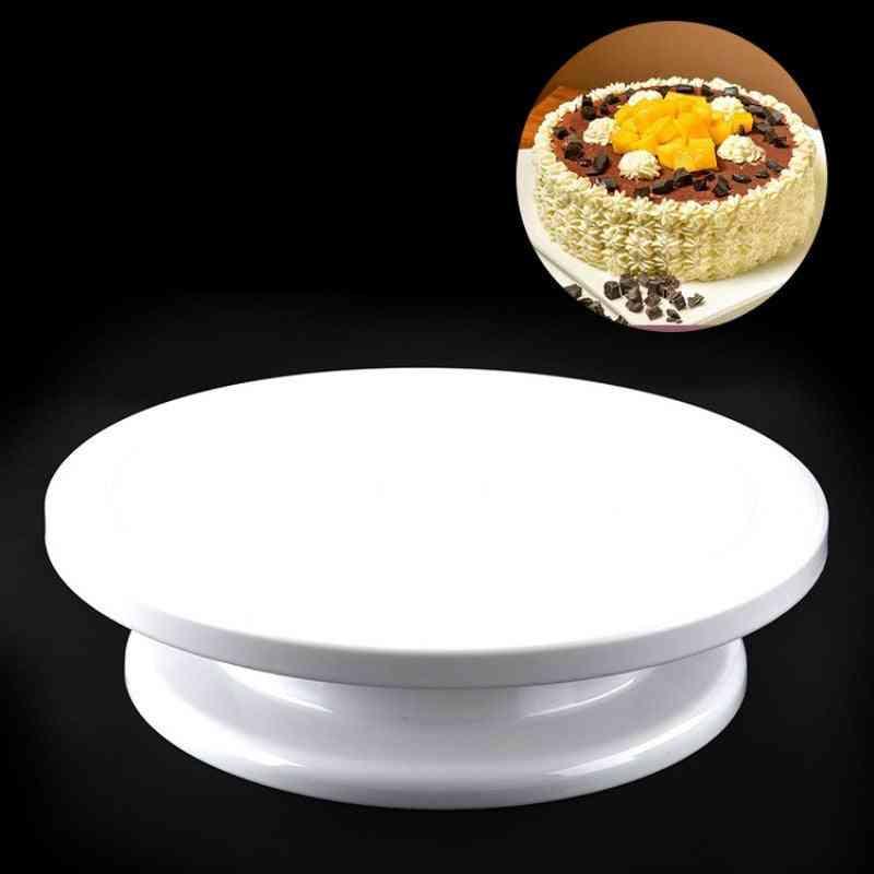 Plastic Cake Stand, Cake Turntable Diy Flower Baking Tools