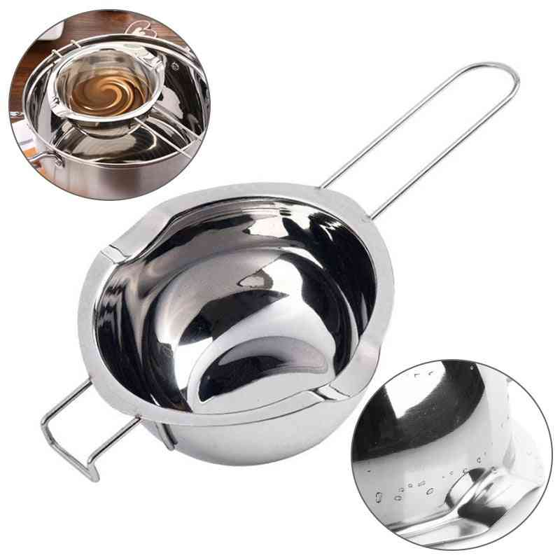 Stainless, Double Boiler Bowl - Chocolate Butter Melting Pot Pan