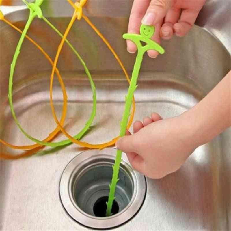51cm Sink Cleaning Hook Bathroom, Floor, Drain Sewer Dredge Device