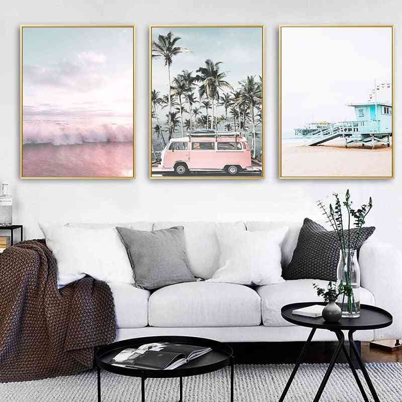 Ocean Landscape Canvas Poster Nordic Style -wall Art Print Painting