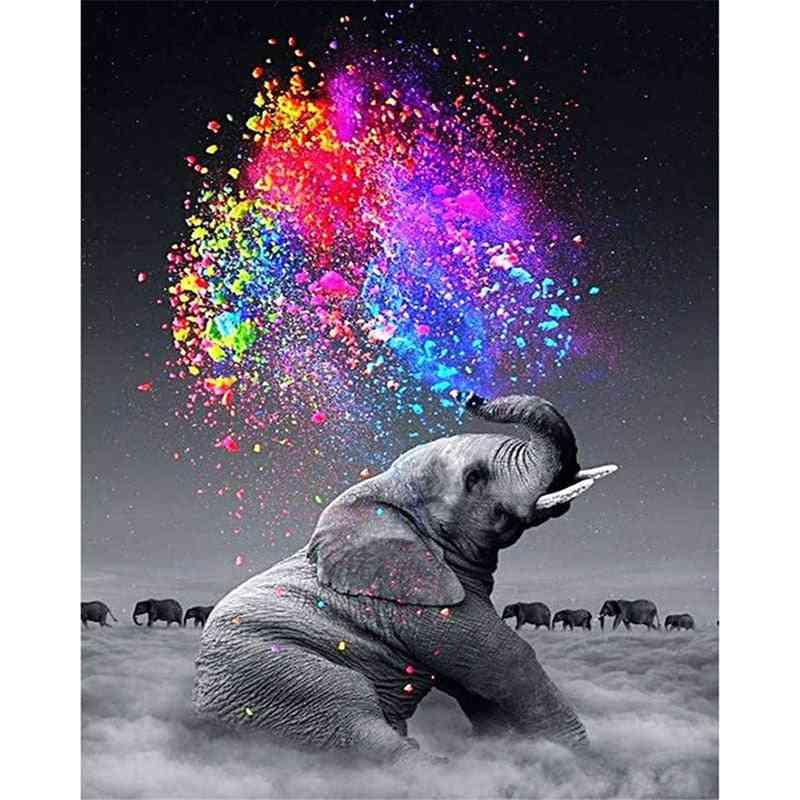 Cloud Elephant, Cigarettes Animal - Canvas Wedding Decoration Art