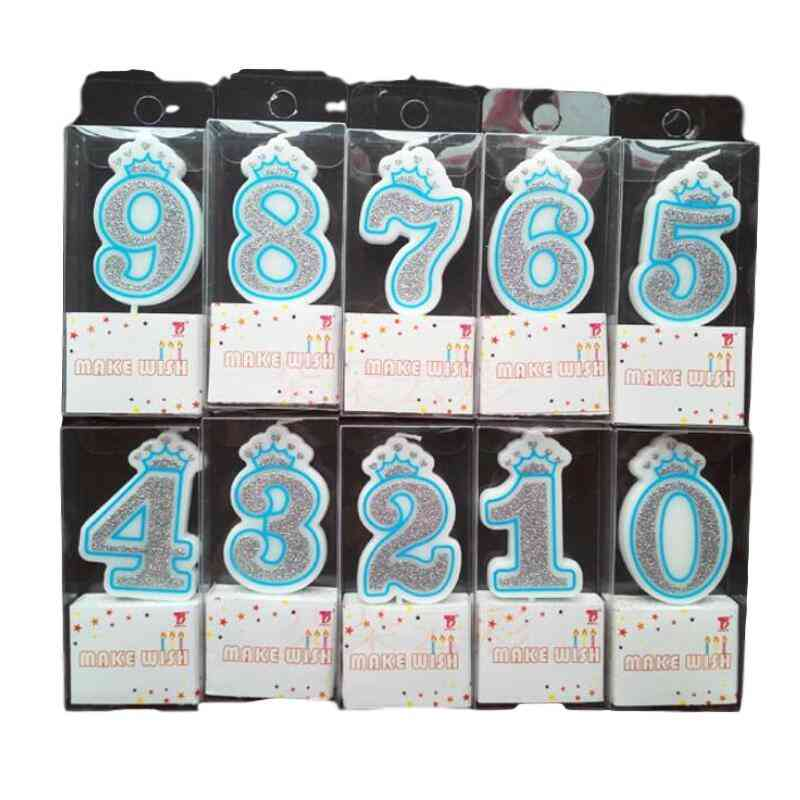 Number 0 To 9 Happy Birthday Cake Candles