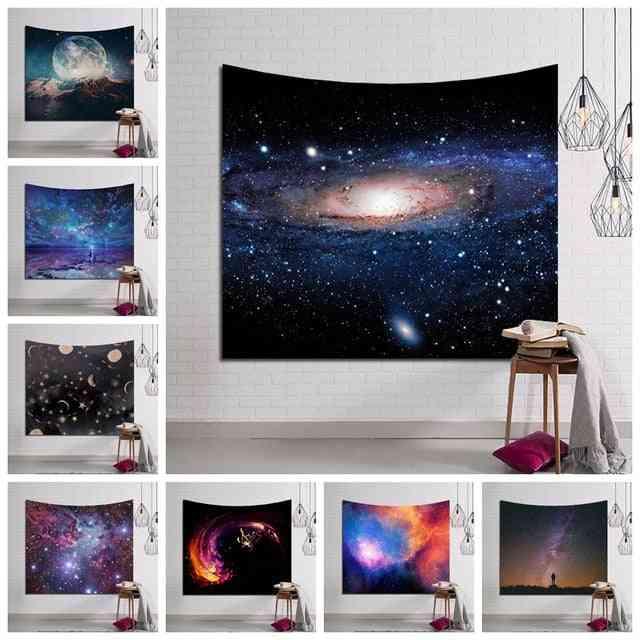 Galaxy Hanging Wall, Tapestry, Hippie - Retro Home Decor Yoga Beach Mat