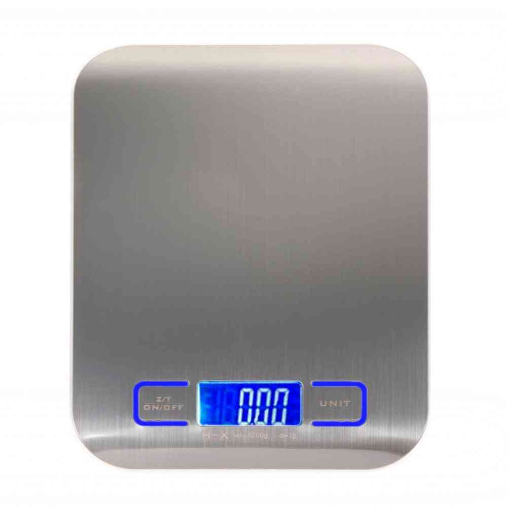 Digital Multi Function Food Kitchen Scale - Stainless Steel, Platform With Lcd Display
