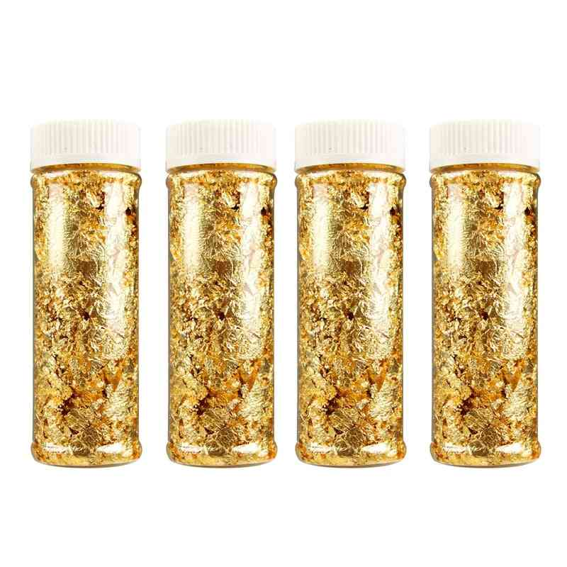 Edible Grade Genuine Gold Leaf Schabin Flakes 2g 3g 24k Gold Decorative Dishes Chef Art Cake Decorating Tools Chocolates