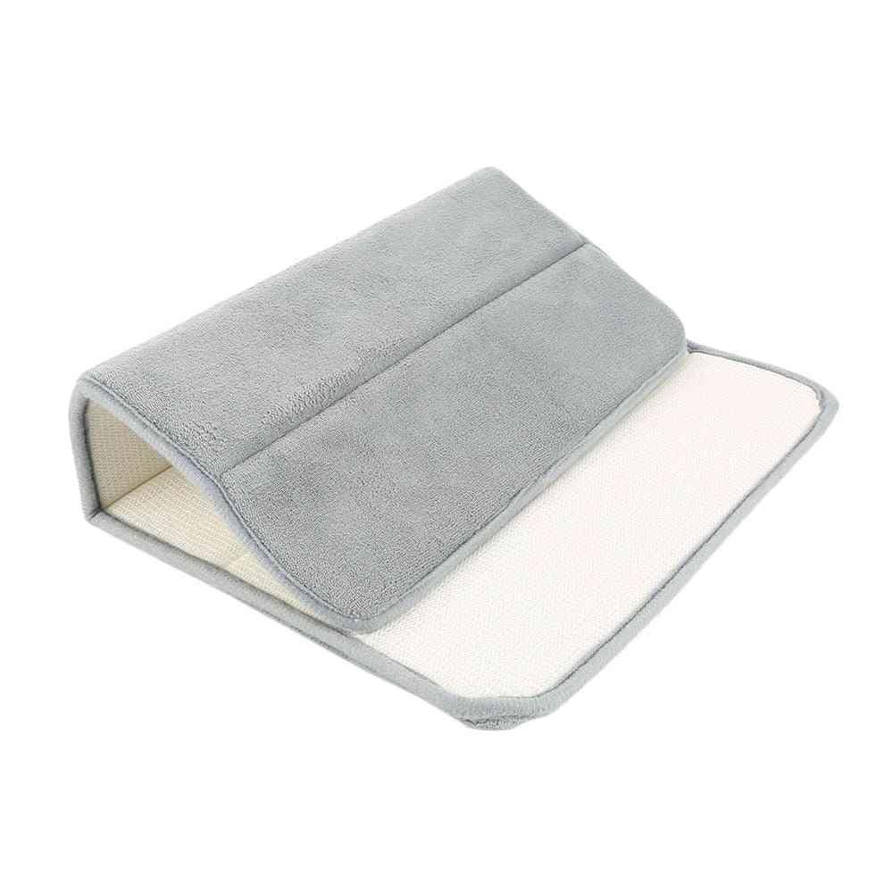 40x60cm Non Slip Carpet, Soft Coral - Foam Rug Bathroom Mat