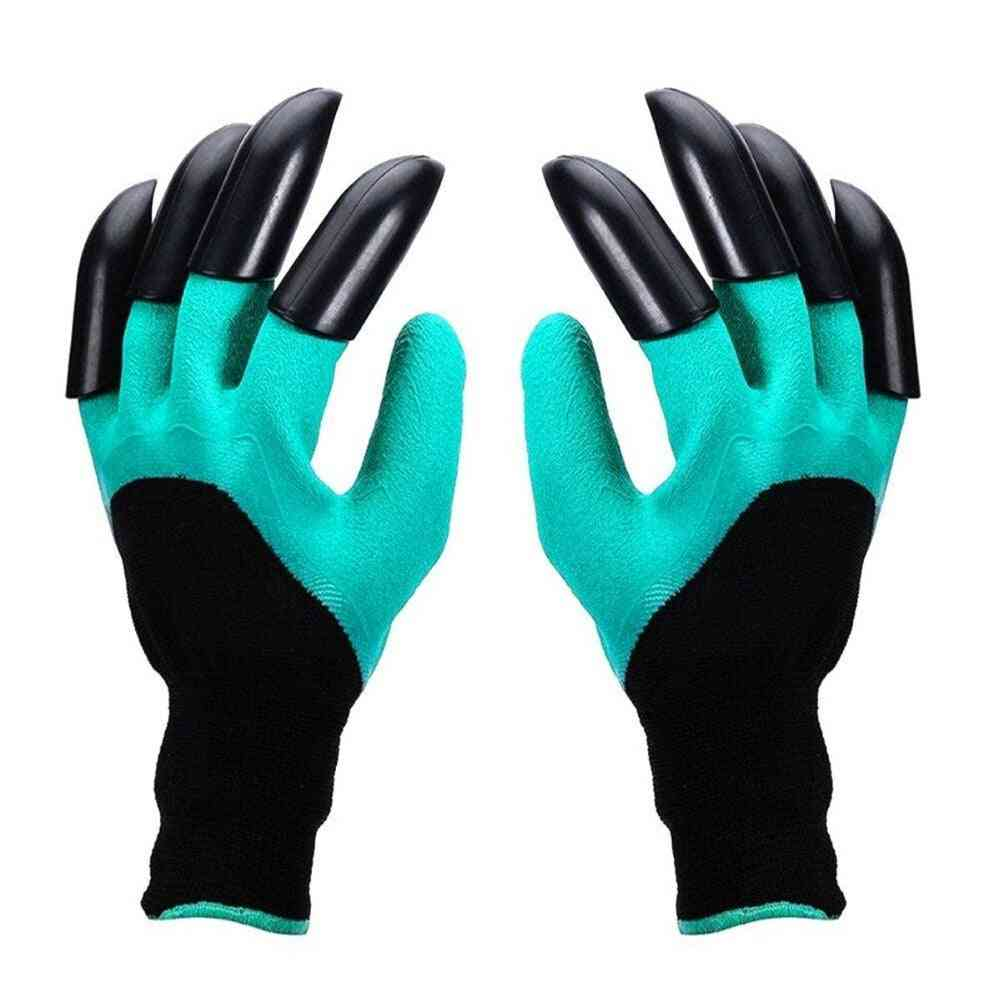 4/8 Hand Claw Abs Plastic Durable Waterproof Gardening Digging Planting Gloves