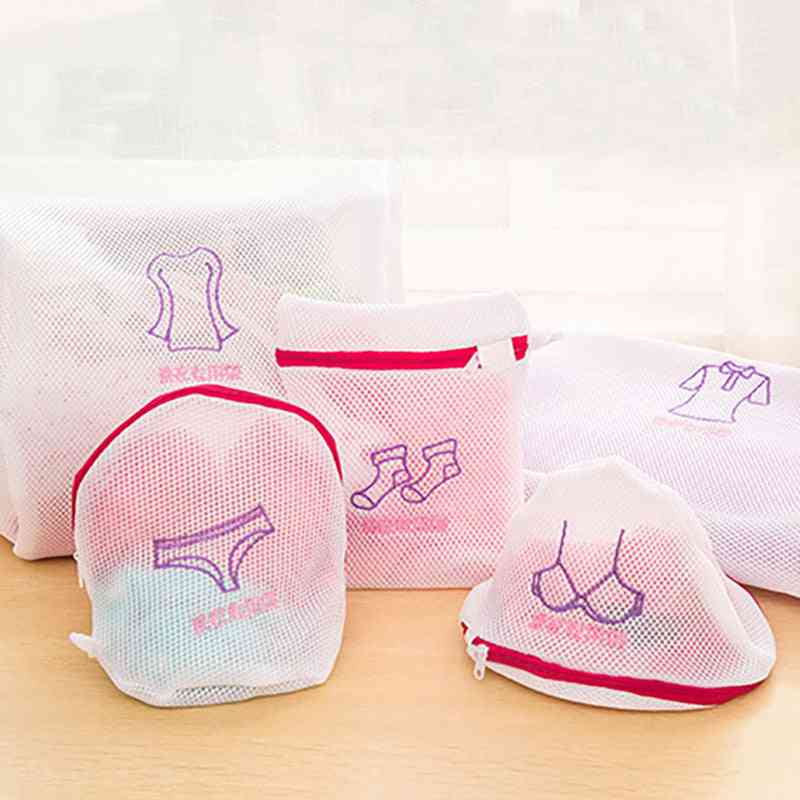 Zippered Mesh, Fordable Delicate Lingerie Bra, Socks, Underwear Laundry Wash Bags