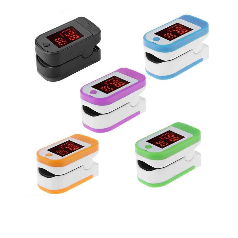 Medical Household Digital Fingertip Pulse Oximeter - Blood Oxygen Saturation Meter Finger Monitor