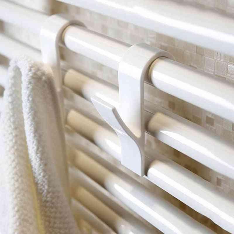 Hanger For Heated Towel Radiator - Rail Clothes Hanger, Bath Hook Holder