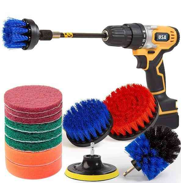 14pcs All Purpose Power Scrubber Electric Drill Cleaning Brush Kit