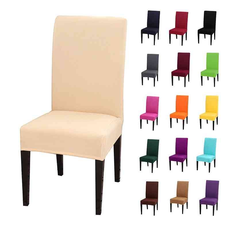 Stretch Spandex Removable Dining Room Chair Covers-  Solid Color