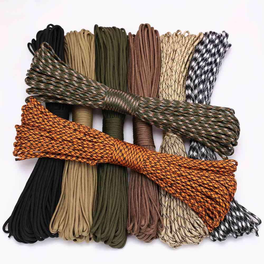 4 Size Dia.4mm 9 Stand Cores Paracord For Survival Parachute Cord - Lanyard Camping Climbing Camping Rope