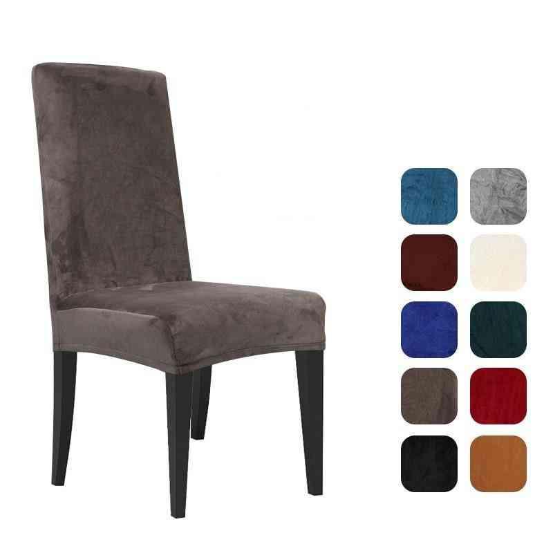 Velvet Spandex Elastic Chair Slipcover Case For Chairs - Office Wedding Dining Room