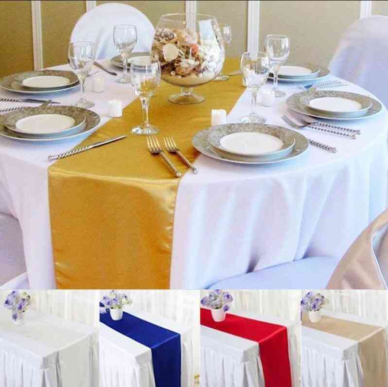 30cm X 275cm Satin Table Runners For Wedding Party Decoration Modern