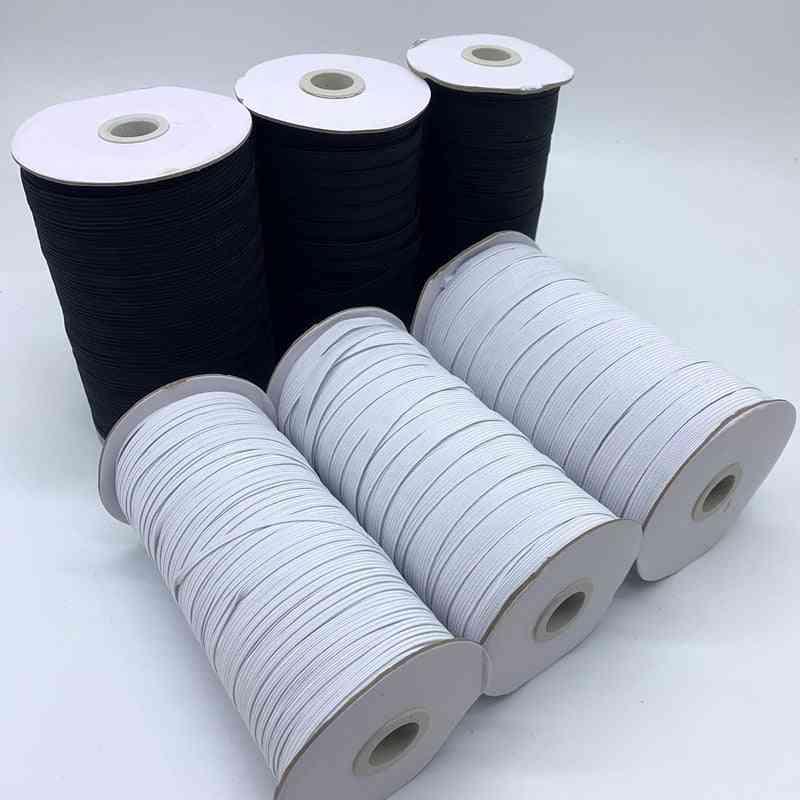 3/6/8/10/12mm 5yards/lot High Elastic Sewing Elastic Ribbon And Elastic Spandex Band