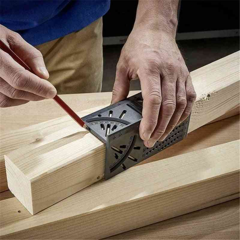 Wood Working Measuring Gauge Square Size Ruler With 3d Mitre Angle