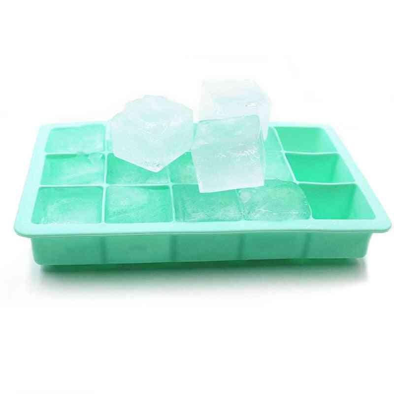 15 Grid Food Grade Silicone Ice Tray And Ice Cube Mold - Square Shape Ice Cream Maker