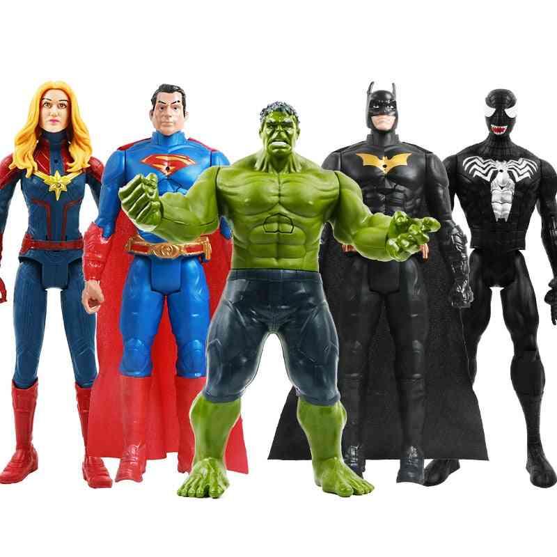 12''/30cm Marvel Avengers Venom, Batman, Flash, Superman, Spiderman, Thanos, Hulk, Iron Man, Thor, Wolverine Action Figure For Kids
