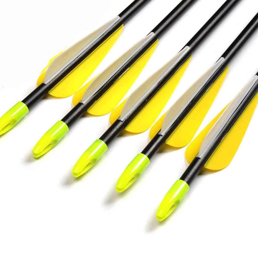 Fiberglass Arrow With Plastic Feather And Nock Steel Arrowhead Recurve Bow