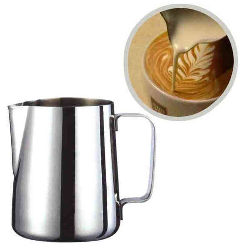 Stainless Steel Milk Frothing Jug Pitcher For Espresso Coffee, Barista Craft Coffee