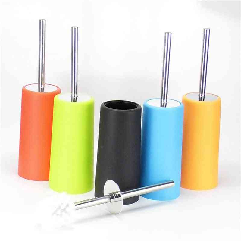 Toilet Brush Holder With Stainless Steel Handle Used In Bathroom Daily Necessities