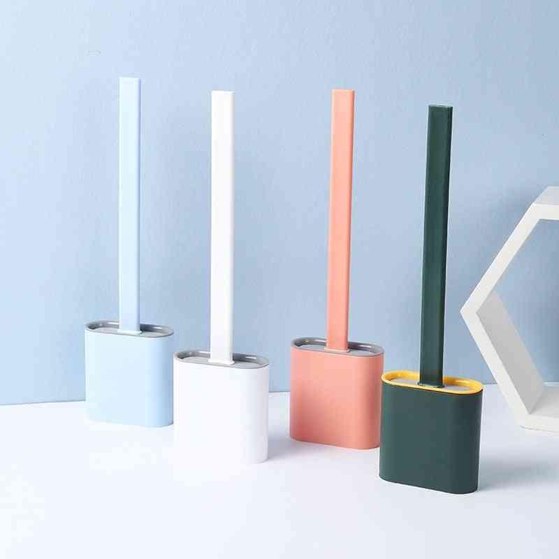 Creative, Flexible, Glue Long Handle Toilet Brush - Toilet Household, Eco-friendly Toilet Cleaning Brush