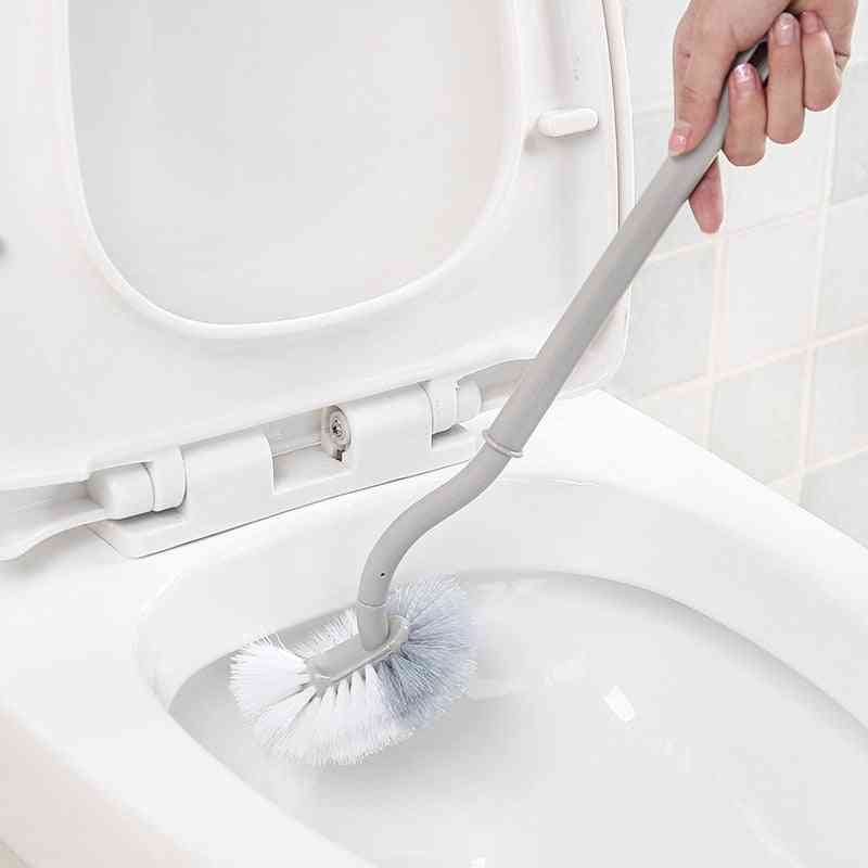 Long Handle Toilet Cleaning Brush - Soft Hair Creative Wall Mounted Plastic