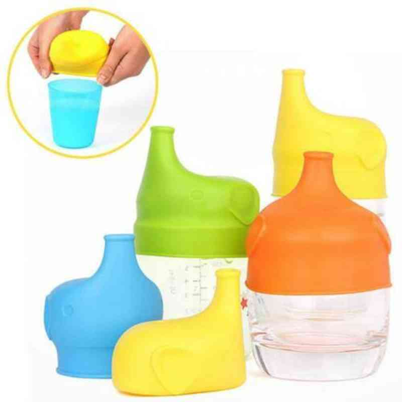 Soft Water Bottle Mouth Cup Cover Suction Nozzle - Spill Proof Caps
