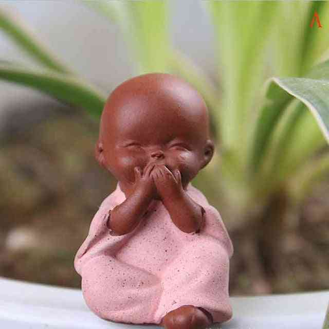 Kung Fu Tea Set Sand Buddha Monk - Tea Tray Decor