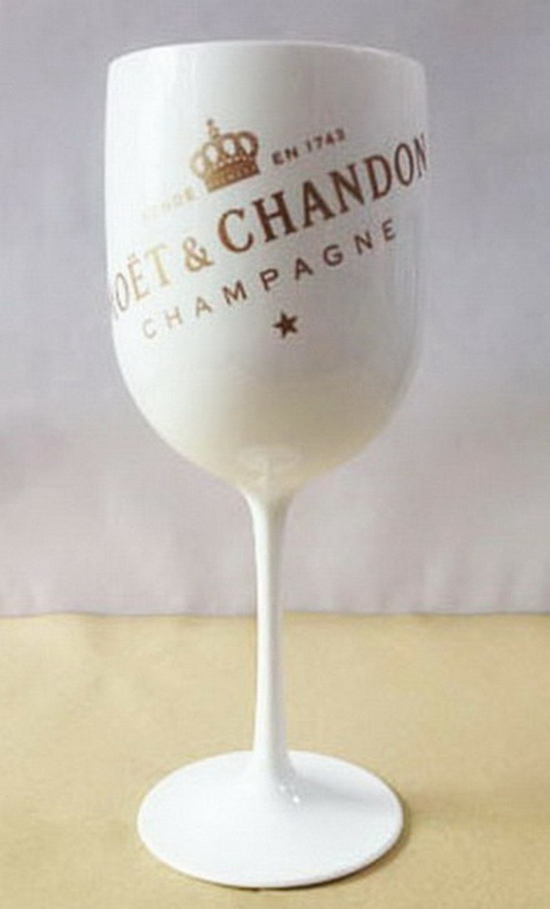 1 Pc Plastic Wine Party White Champagne Moet Glass
