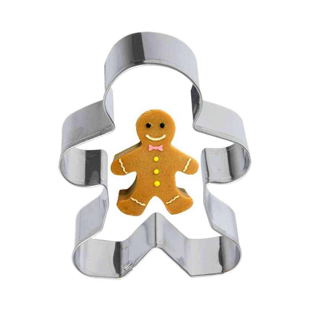 Metal Alloy Ginger Bread Men Shaped Holiday Used For Baking Cupcake/jelly/chocolate/candle