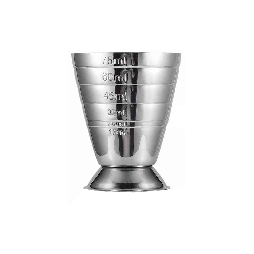 Stainless Steel Measure Cup Cocktail Tool Bar - Mixed Drink Accessories 3 In 1