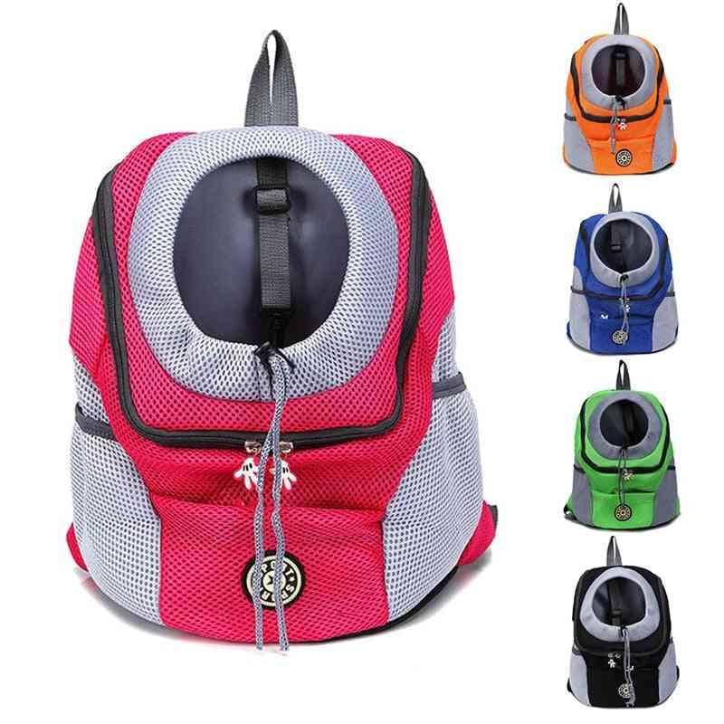 Outdoor Nylon Carrier Bag ,double Shoulder Portable Travel Dog Pet Backpack
