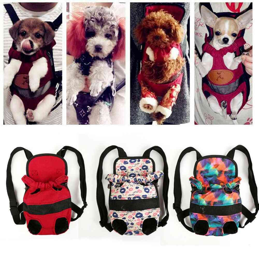Portable Security Small Dog Carrier Travel Front Backpack - Carrying Pouch Bags