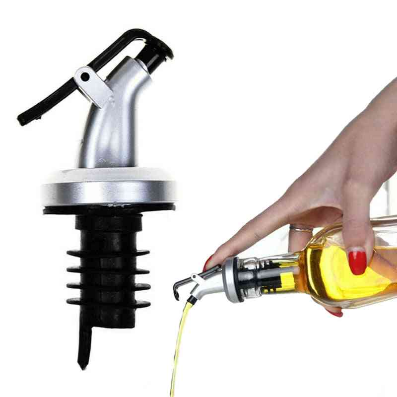 Oil Bottle Stopper Lock Plug Seal Leak Proof - Plastic Nozzle Sprayer Used For Liquor Dispenser, Wine Pourers