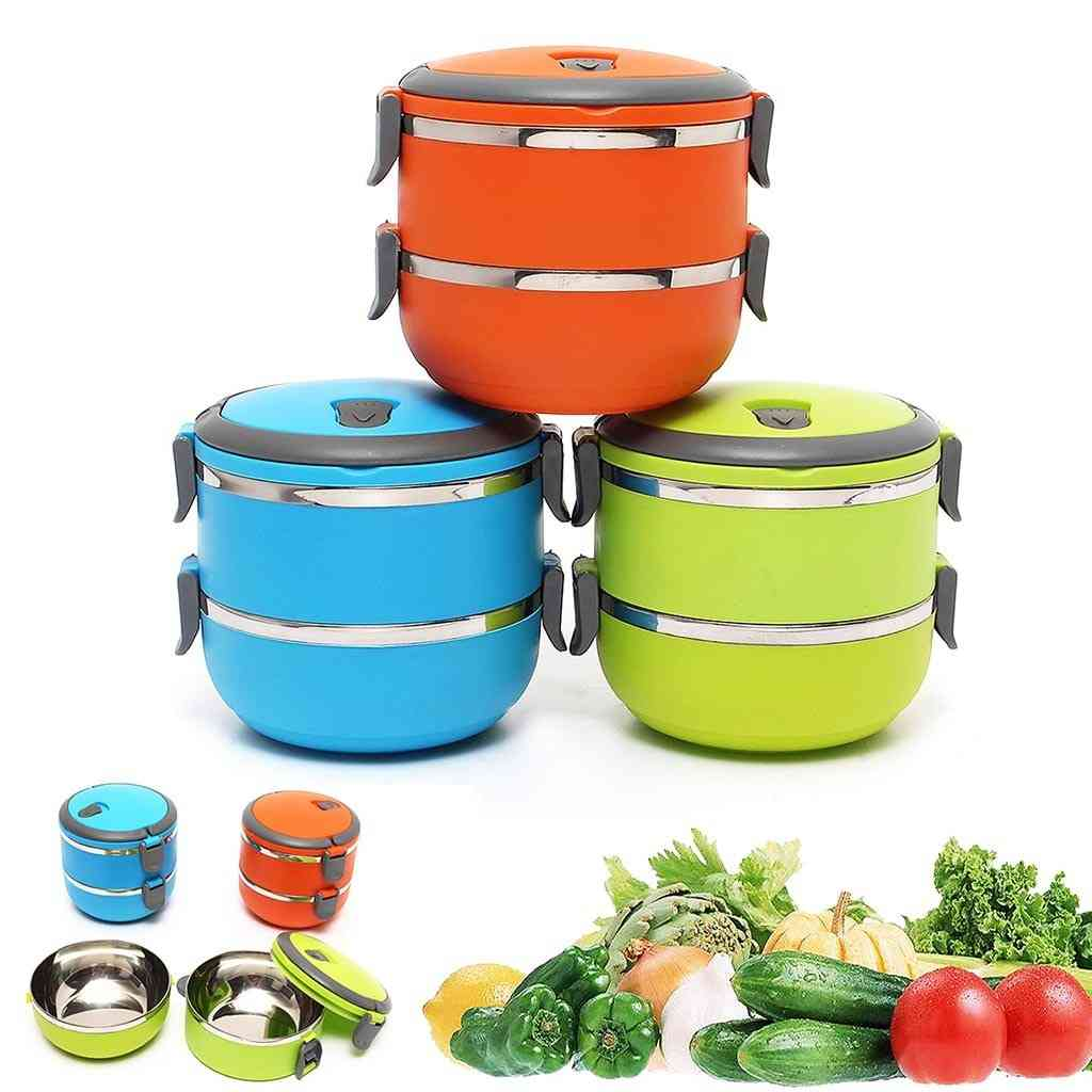 Home Office Stainless Steel Lunch Box - Thermal Food Container