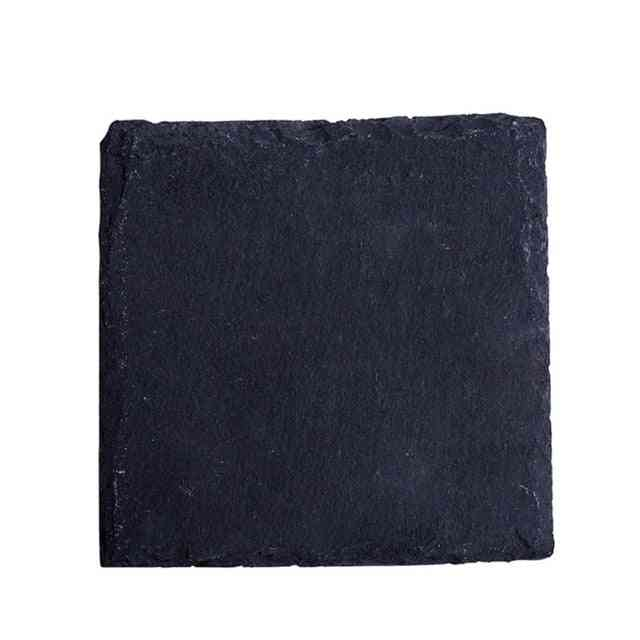 Natural Black Western Slate Bbq Plate Stone Dishes - Solid Square Sushi Steak Barbecue