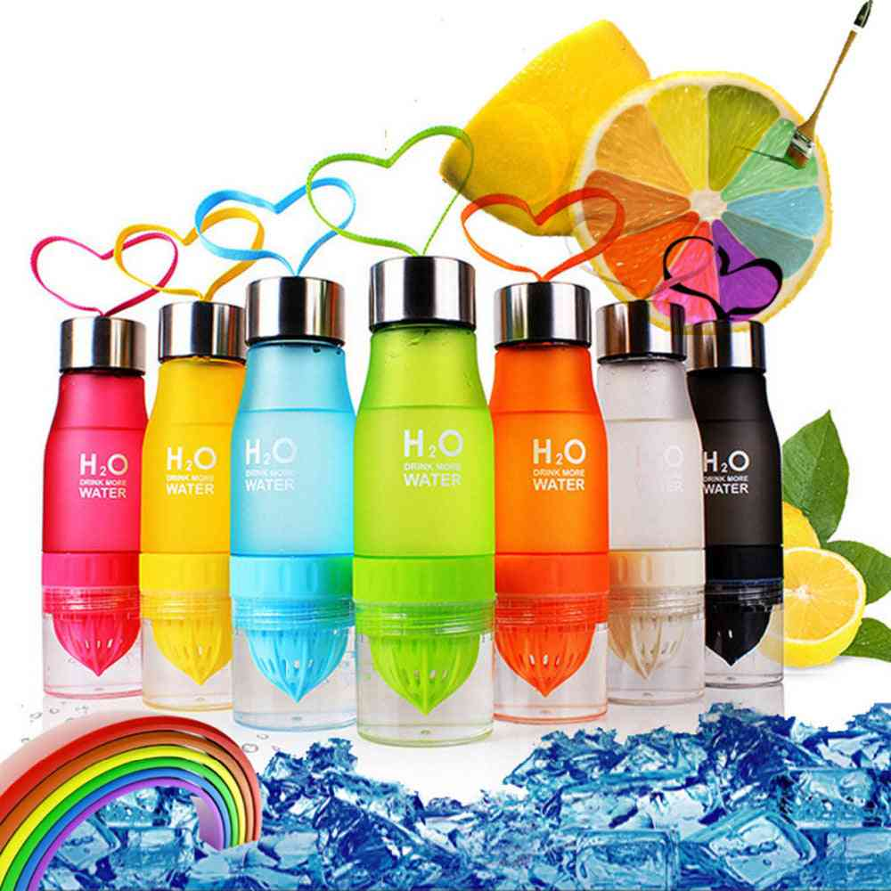 Xmas 650ml Infuser Water Portable Bottle Of Plastic - Kids Drink Outdoor Sports