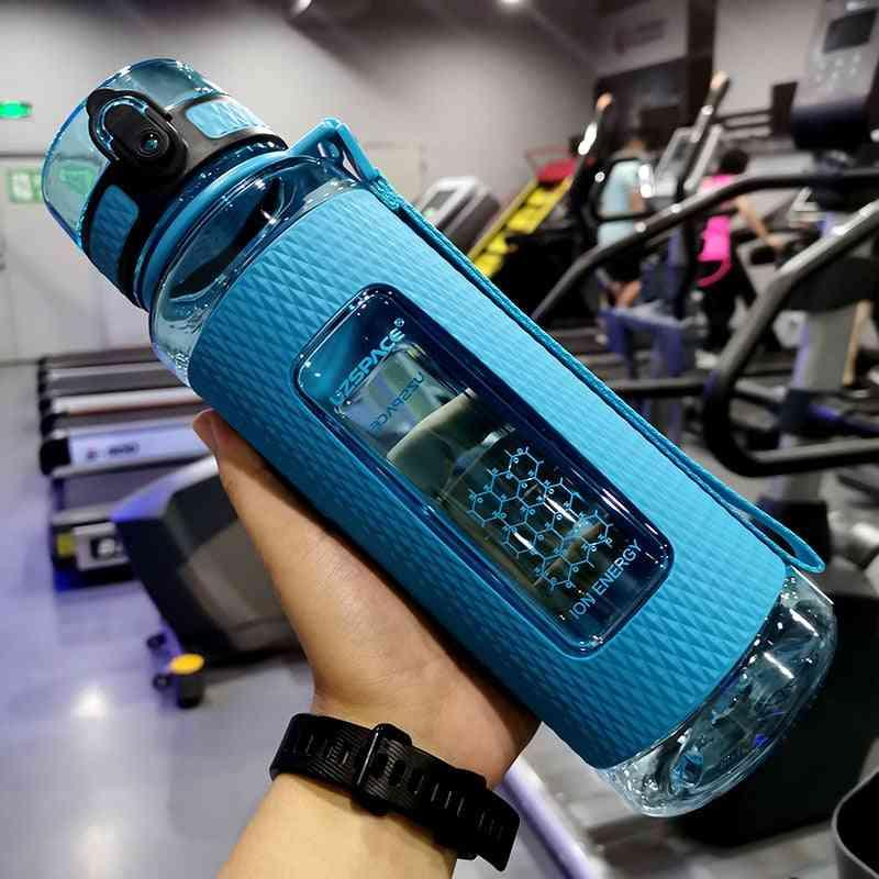 Sport Water Bottles Portable Gym Anti Fall Leak Proof Large Capacity Fitness Bottle