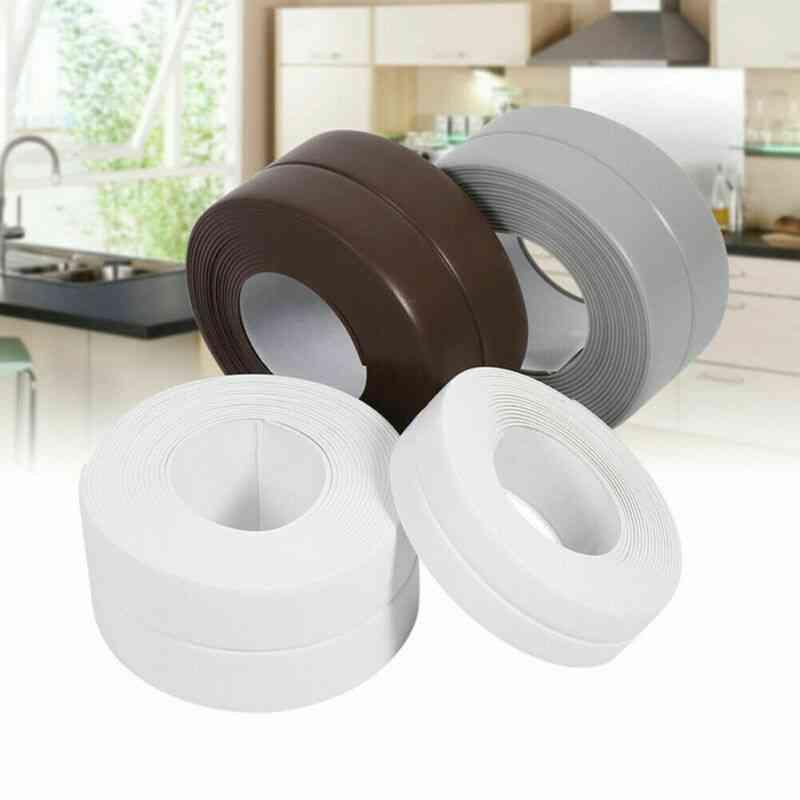 Bathroom Shower Sink, Bath Sealing Strip Tape - Self Adhesive Waterproof