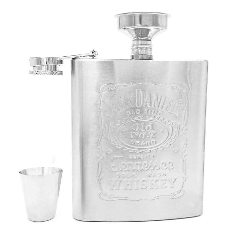 Portable Stainless Steel Hip Flask Alcohol Bottle Travel